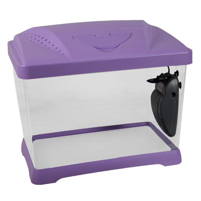 ferplast kinder fisch aquarium 21l capri junior violett klein mit licht filter ebay. Black Bedroom Furniture Sets. Home Design Ideas