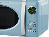 schaub lorenz 800 watt mikrowelle grill display 23 liter mikro retro blau timer. Black Bedroom Furniture Sets. Home Design Ideas